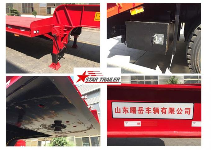 Long Haul Freight Transport Extendable Semi Trailer With Q345B Steel Structure