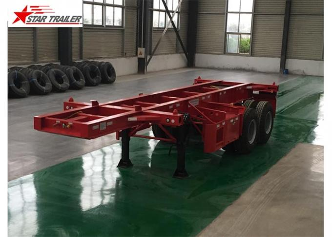 2 Axles Tipper Hydraulic Flatbed Trailer