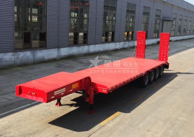 4 Axles 100 Ton Heavy Haul Trailer Front Load Common Mechanical Suspension