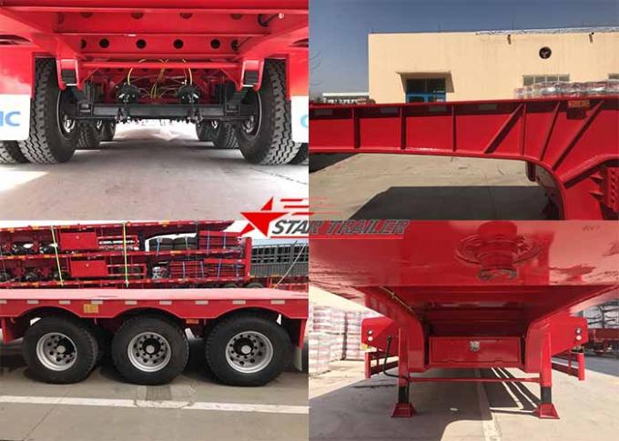 High And Low Panels Low Bed Semi Trailer Transportation Engineering Machinery