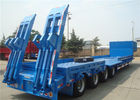 China Heavy Equipment Delivery Lowboy Semi Trailer 4 Axle 80tons Top Flange Thickness 14mm factory