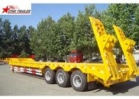 60T Hide 12 Tire 3 Axle Low Bed Trailer With Strong Trailer Frame