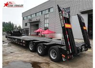 China 3 Line 6 Axles Hydraulic Low Bed Trailer For Heavy Machinery Transporting factory