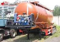 China Carbon Steel 3 Alxe 40CBM 45 CBM Bulk Cement Tanker For 45 - 100 Tons Payload factory