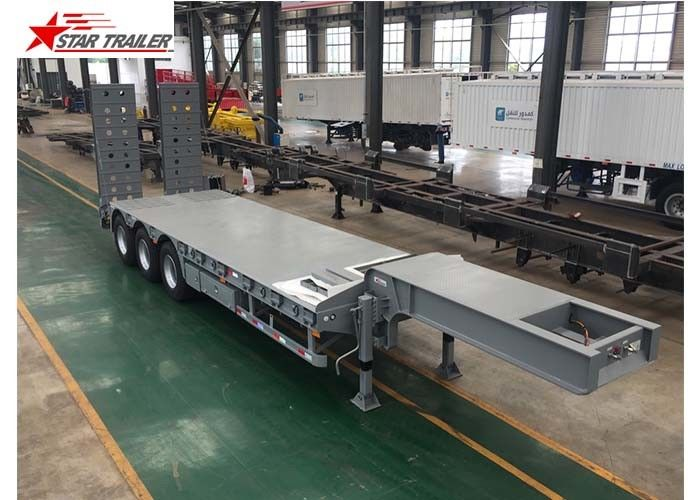 Rust Prevention Low Loader Semi Trailer With Dual Line Braking System