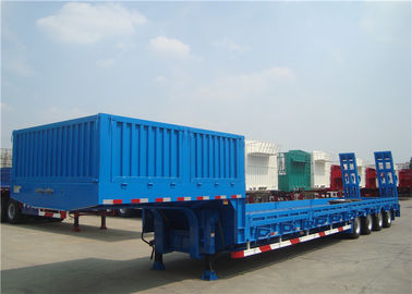 3/4 Axles Heavy Duty Low Bed Semi Trailer Steel Material High Load Capacity