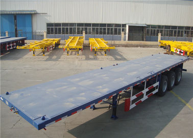 China Carbon Steel Flatbed Semi Trailer 40000kg With Dual Line Braking System distributor
