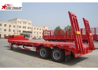 China 2 Axles 40T Low Bed Oilfield Pipe Hauling Trailer 30-60T Strong Trailer Frame distributor