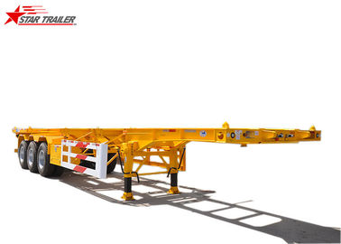 China 40ft Skeletal Container Trailer Straight Beam Tri Axle Mechanical Suspension distributor