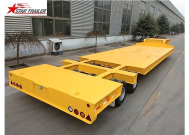 China 60-100T Heavy Duty Lowboy Trailer Highly Robust Structure Steel Material distributor