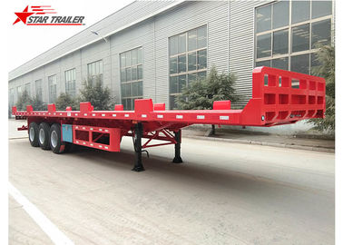 China Heavy Equipment Transport Drop Deck Semi Trailer Manually Operated Or Hydraulic Type distributor