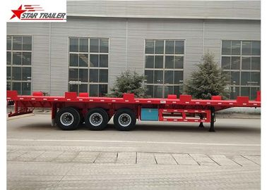 China 24/32/48/53/50 Foot Semi Truck Flatbed Trailer With Leaf Spring Suspension factory