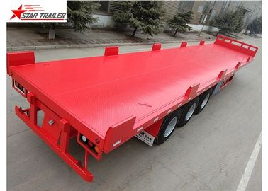 China Heavy Duty Long Flatbed Semi Trailer 12R22.5 Radial Tyres For Cargo distributor