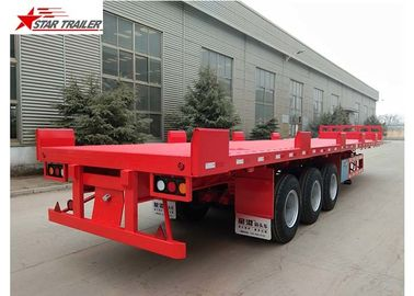 China Custom Air Suspension 18 Wheeler Flatbed Trailer For Heavy Duty Cargo distributor