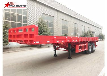 China 9.5 Meters 2 Axles Long Flatbed Trailer , Semi Truck Lightweight Flatbed Trailer distributor