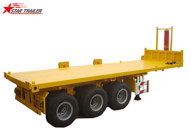 China Steel Container Step Deck Semi Trailer , Heavy Duty Low Deck Trailer distributor
