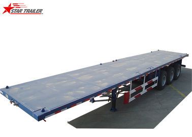China Self Unloading Low Platform Trailer , 30-80T Extendable Hydraulic Platform Trailer distributor