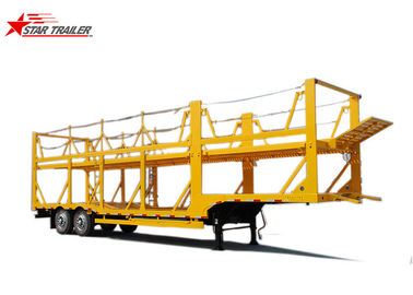 China Hydraulic Auto Carrier Trailer , Steel Gooseneck Car Carrier Semi Trailer distributor
