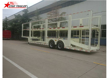 China 4-8 Vehicle Hydraulic Car Carrier Trailer Heavy Duty And Extra Durability Designed distributor