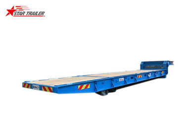 China Container Delivery 40ft Gooseneck Roro Trailer For Loose Cargo On Roro Ship distributor