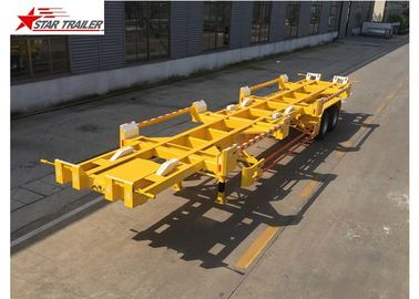 China 2 Axles 20ft Terminal Trailer High Strength And Strong Bearing Capacity factory