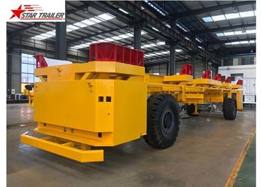 "China 3 Axle Heavy Haul Trailer 2"" Or 3.5"" Kingpin For Transport 20ft And 40ft Container factory"