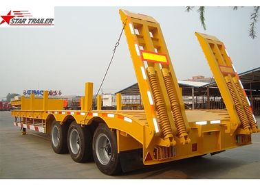 China 3 Axles Extendable Pipe Hauling Trailer With Corrugated Plate Side Wall distributor