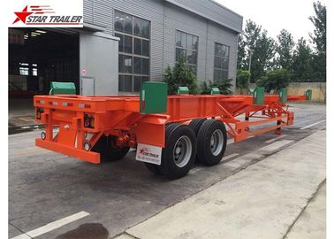 China 4 Double Chamber 40 Foot Flatbed Trailer With Heavy Duty Type Suspension distributor