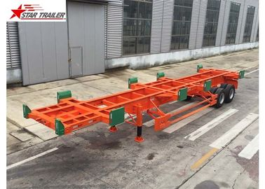 China 2/3 Axles Port Yard Terminal Trailer Heavy Duty Tandem Leaf Spring Suspension factory