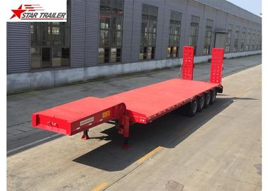 China Easy Operate Extendable Drop Deck Trailer, Extendable Lowboy Trailer With Fixed Landing Leg distributor