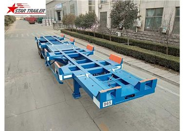 China Leaf Spring Terminal Trailer , Semi Trailer Transport Two 20- Foot Containers factory