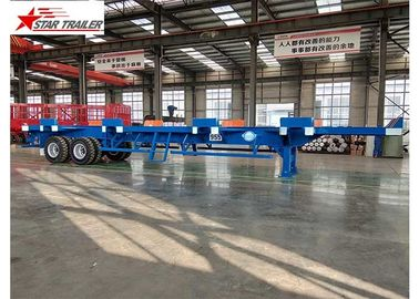 China Terminal Yard Blue Semi Trailer Truck High Strength And Strong Bearing Capacity factory