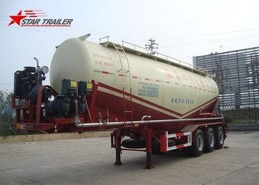 China Three Alxe Bulk Cement Tanker Trailer , Long Life Cement Carrier Truck distributor