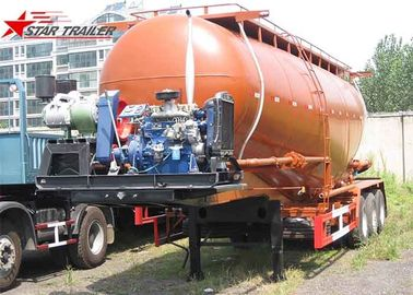China Carbon Steel 3 Alxe 40CBM 45 CBM Bulk Cement Tanker For 45 - 100 Tons Payload distributor