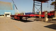 Cargo Container Platform Semi Trailer With Howo Heavy Duty