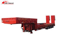 4 Axles Extendable Semi Trailer Front And Rear Hydraulic Type With Hidden Tires